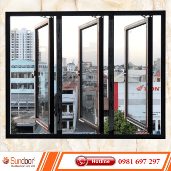 Cửa sổ 3 cánh nhôm Xingfa
